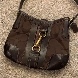 Coach Signature Hampton Shoulder Bag Brown Medium